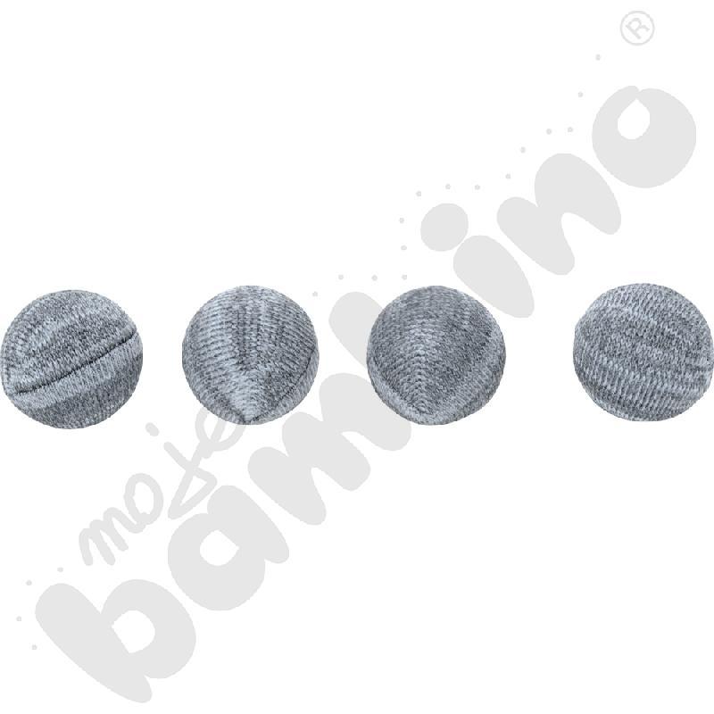 Nakładki dzianinowe do krzeseł - szare,  100 szt., 16-22 mm