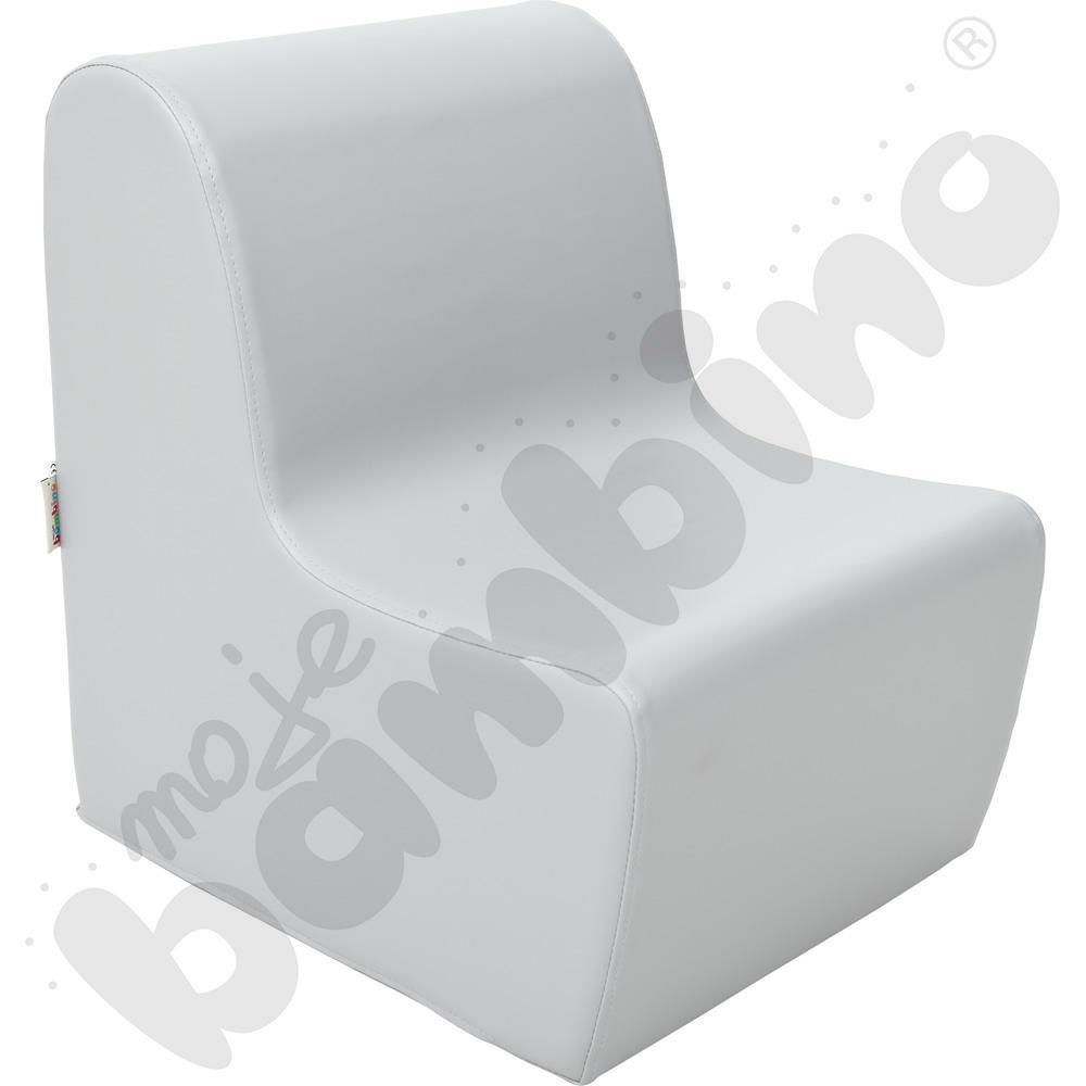 Średni fotelik szary