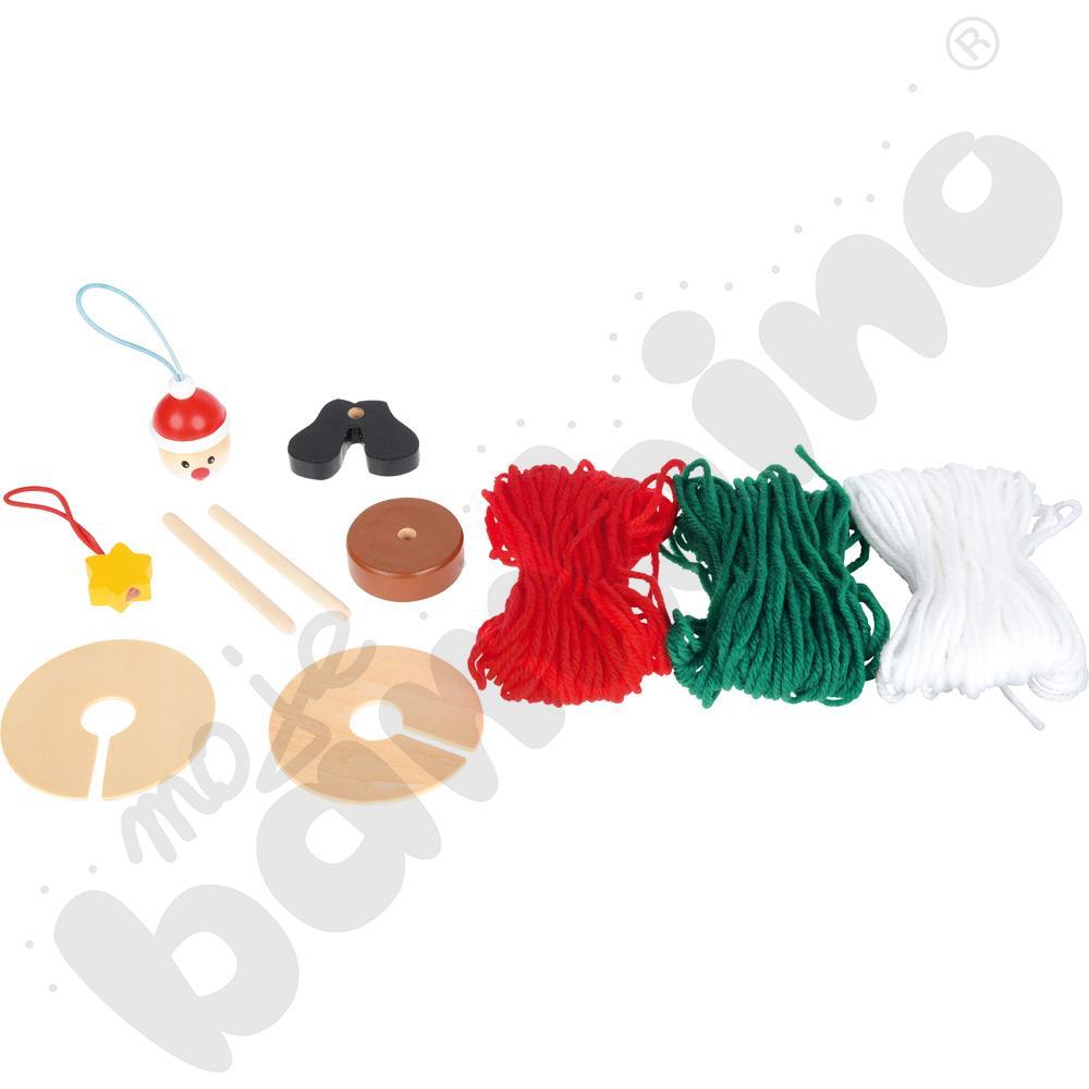Świąteczne pompony - mini zestaw