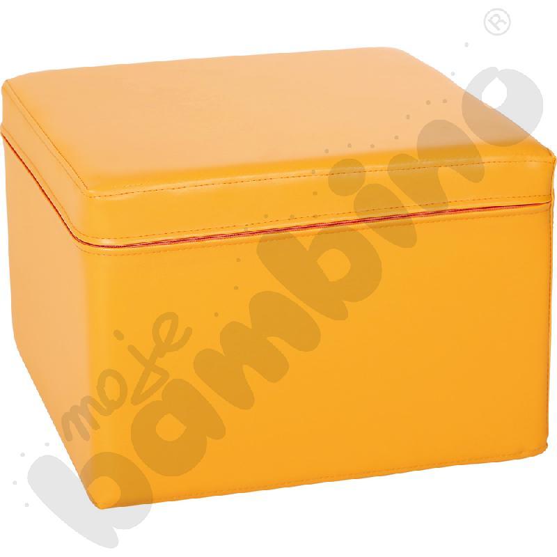 Kostka świetlicowa pomarańczowa, wys. 25 cm