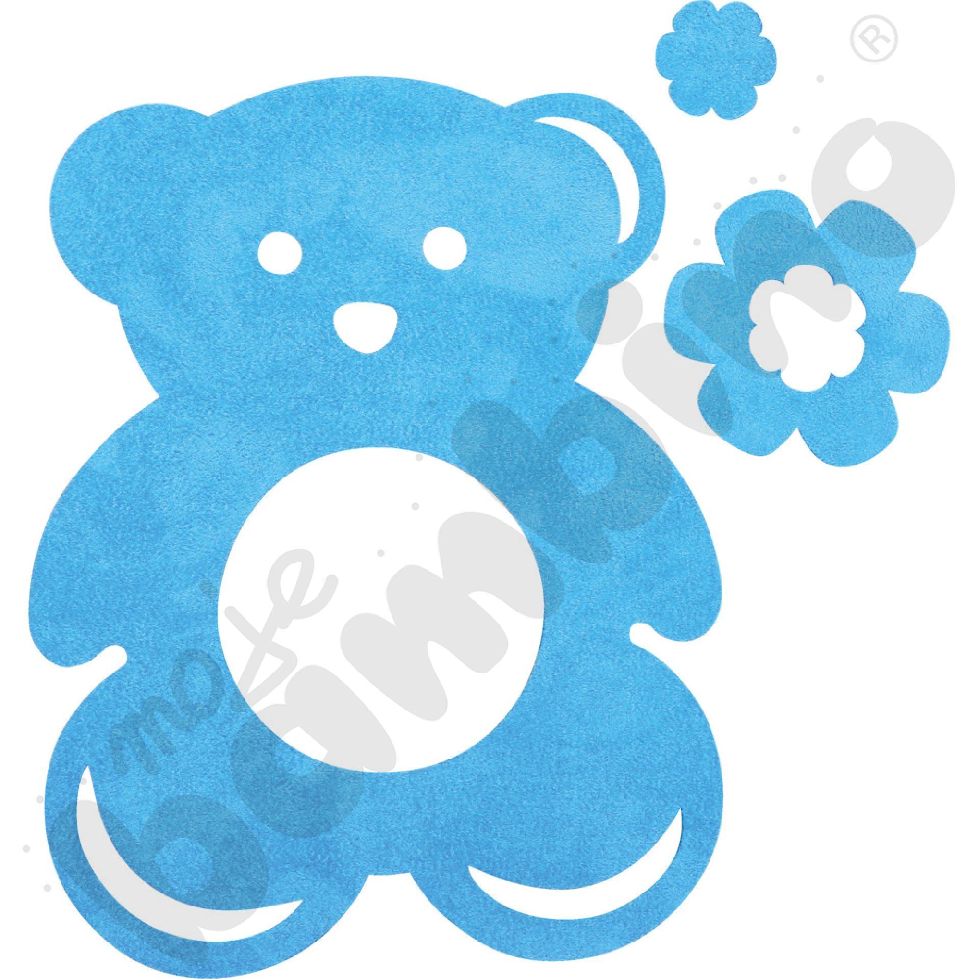 Osłonka pod gniazdko - niebieski miś