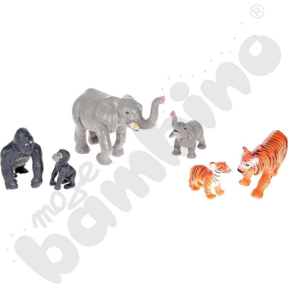 Zwierzęta dżungli: mama i potomstwo