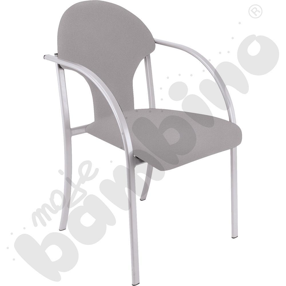 Krzesło Visa alu szare