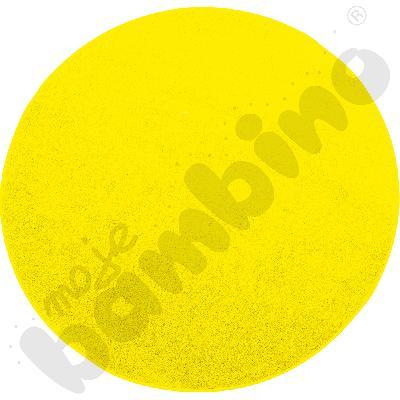 Dywan okrągły o śr. 70 cm - żółty
