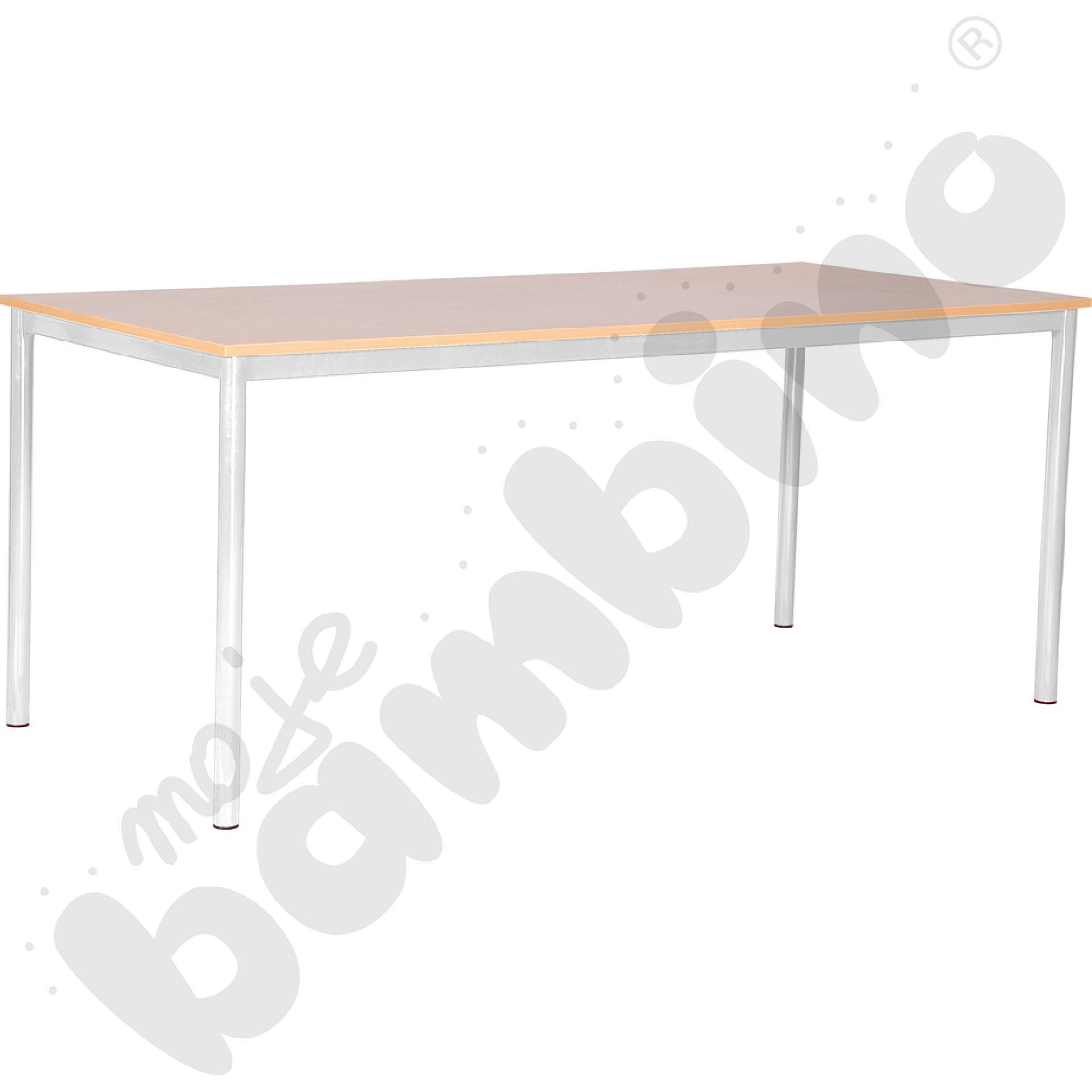 Stół świetlicowy Mila 180 x 80 cm rozm. 3 aluminium