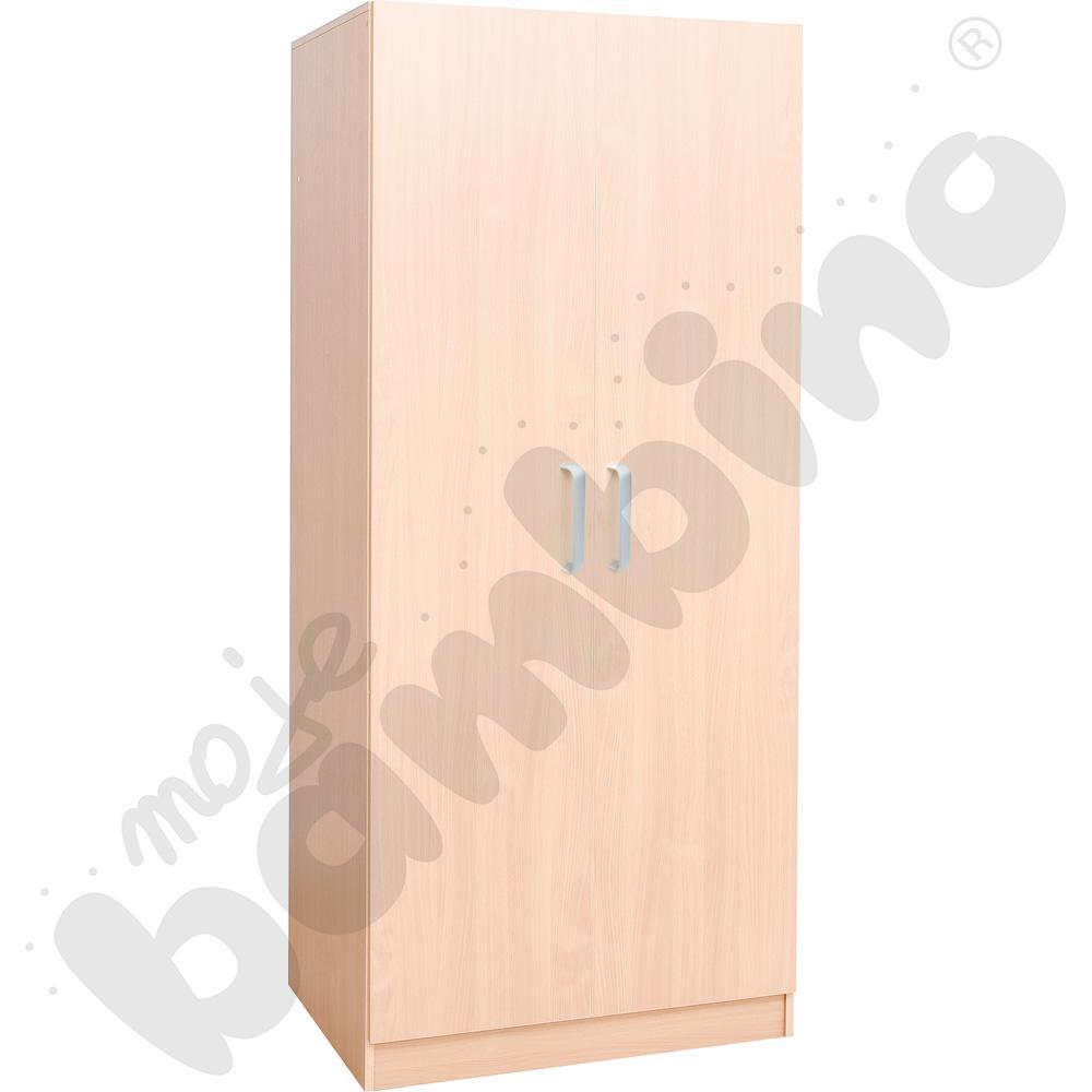 Szafa z drzwiami na pościel i 8 materacy - brzoza