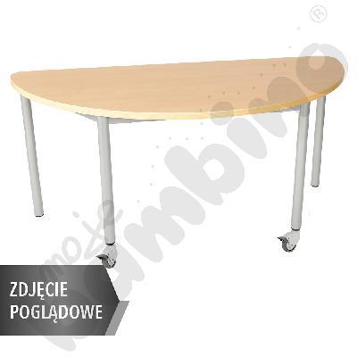 Stół Mila półokrągły, 160 x 80 cm, rozm. 1 - brzoza
