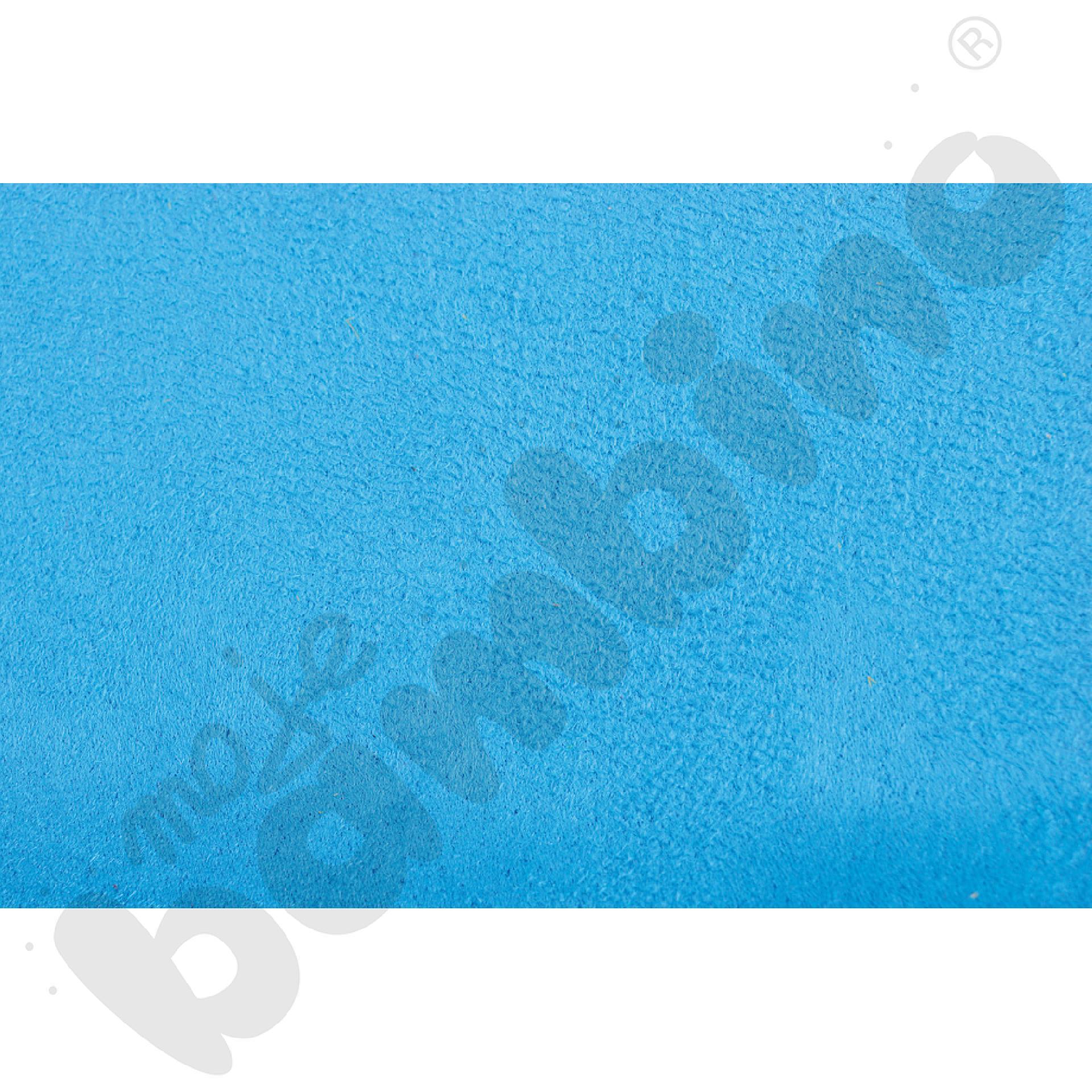 Welurowe pasy ozdobne - niebieski