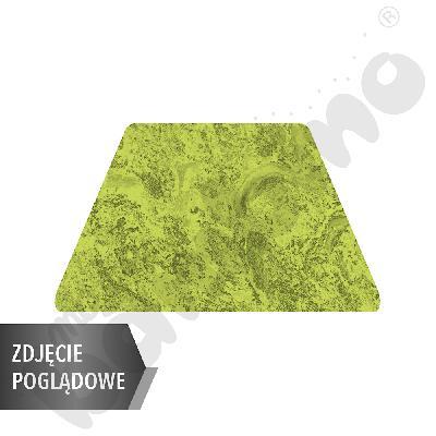 Cichy stół trapezowy, 140 x 70 x 80 x 70 cm, zaokrąglone narożniki, rozm. 6 - zielony