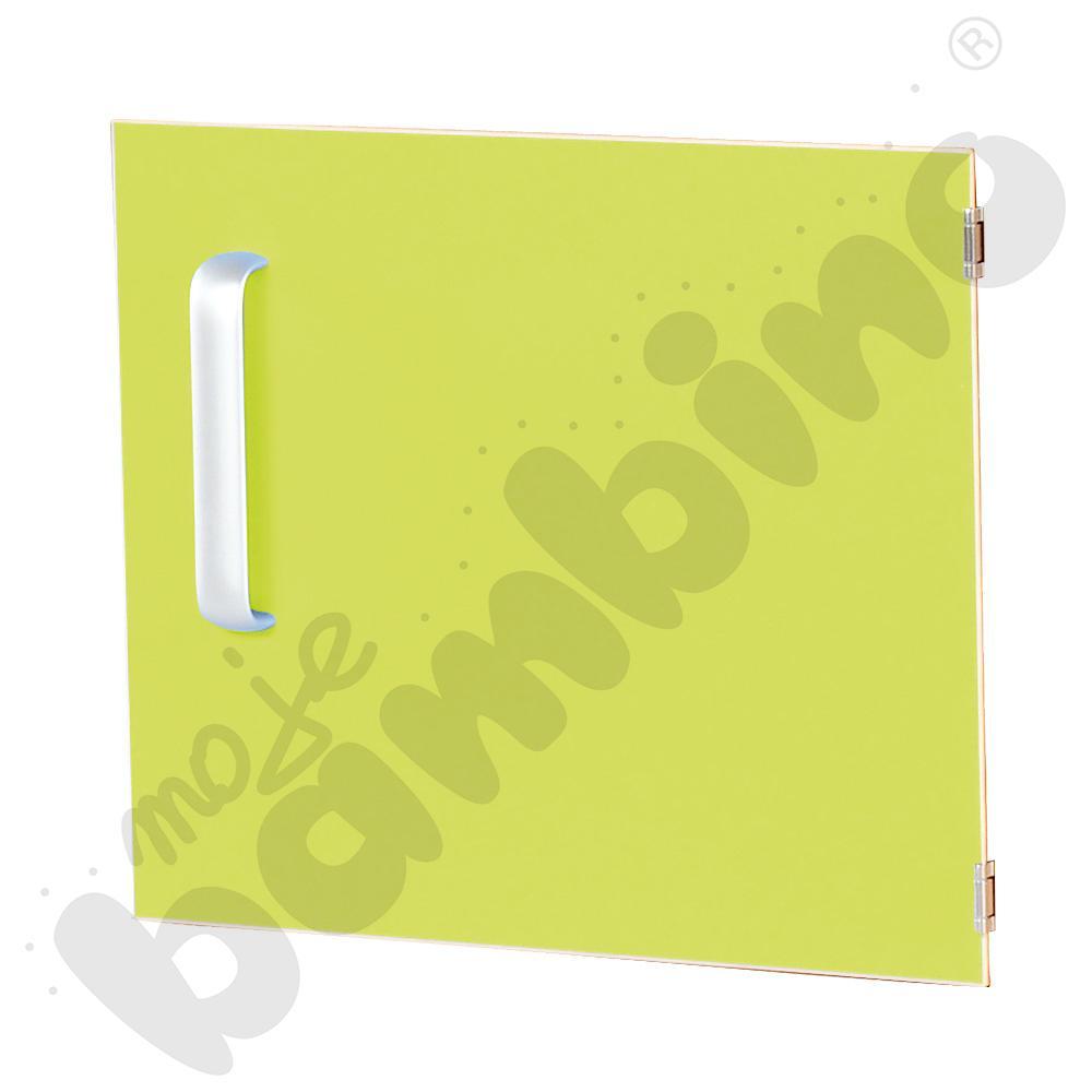 Drzwiczki do szafki M z przegrodą prawe - limonkowe