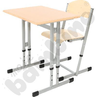 Stół INR rozm. 3-7 z krzesłem T rozm. 4-6