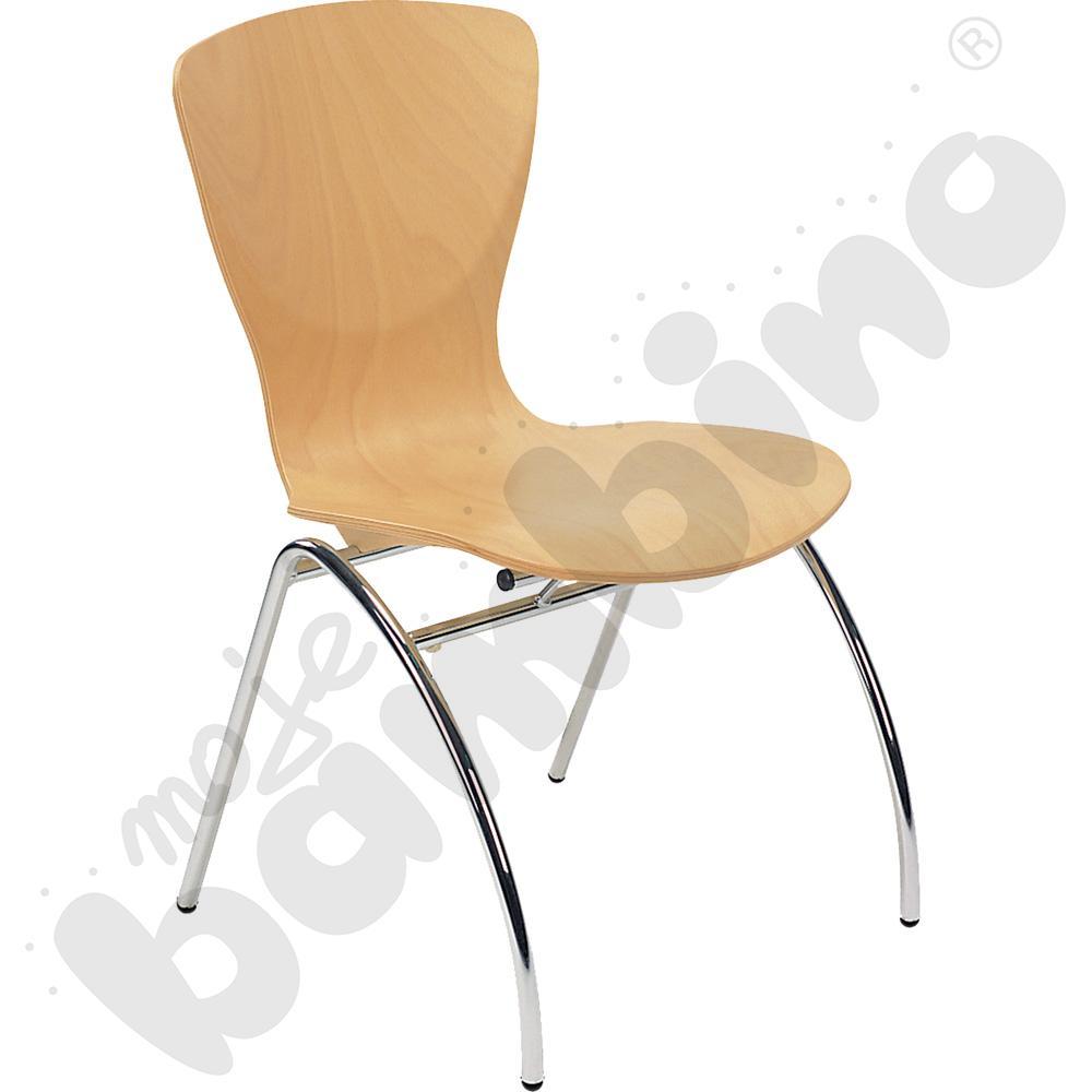 Krzesło Bingo wood chrome