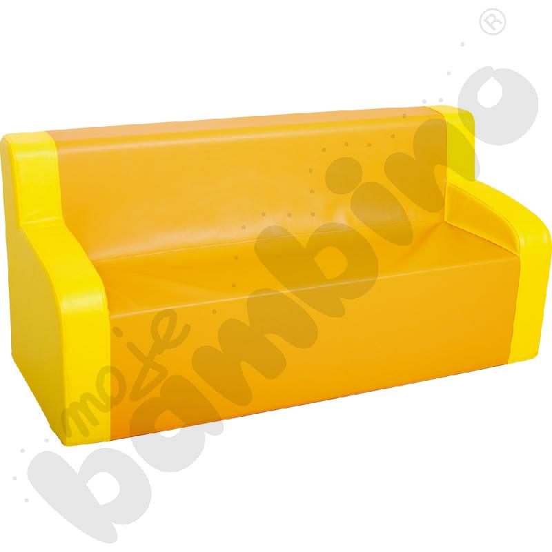 Kanapa z podłokietnikami żółto-pomarańczowa