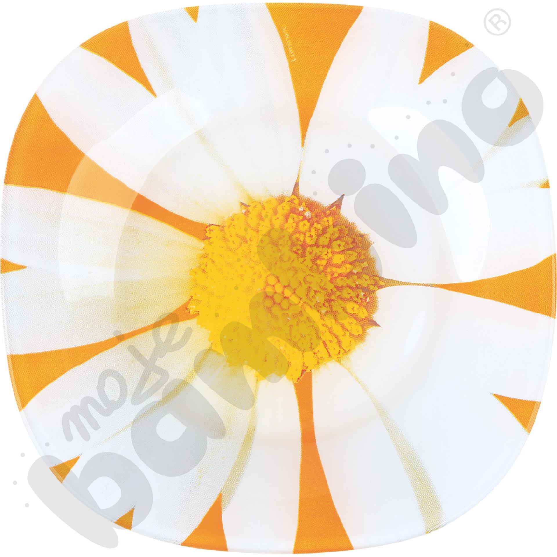 Talerz deserowy Paquerette pomarańczowy