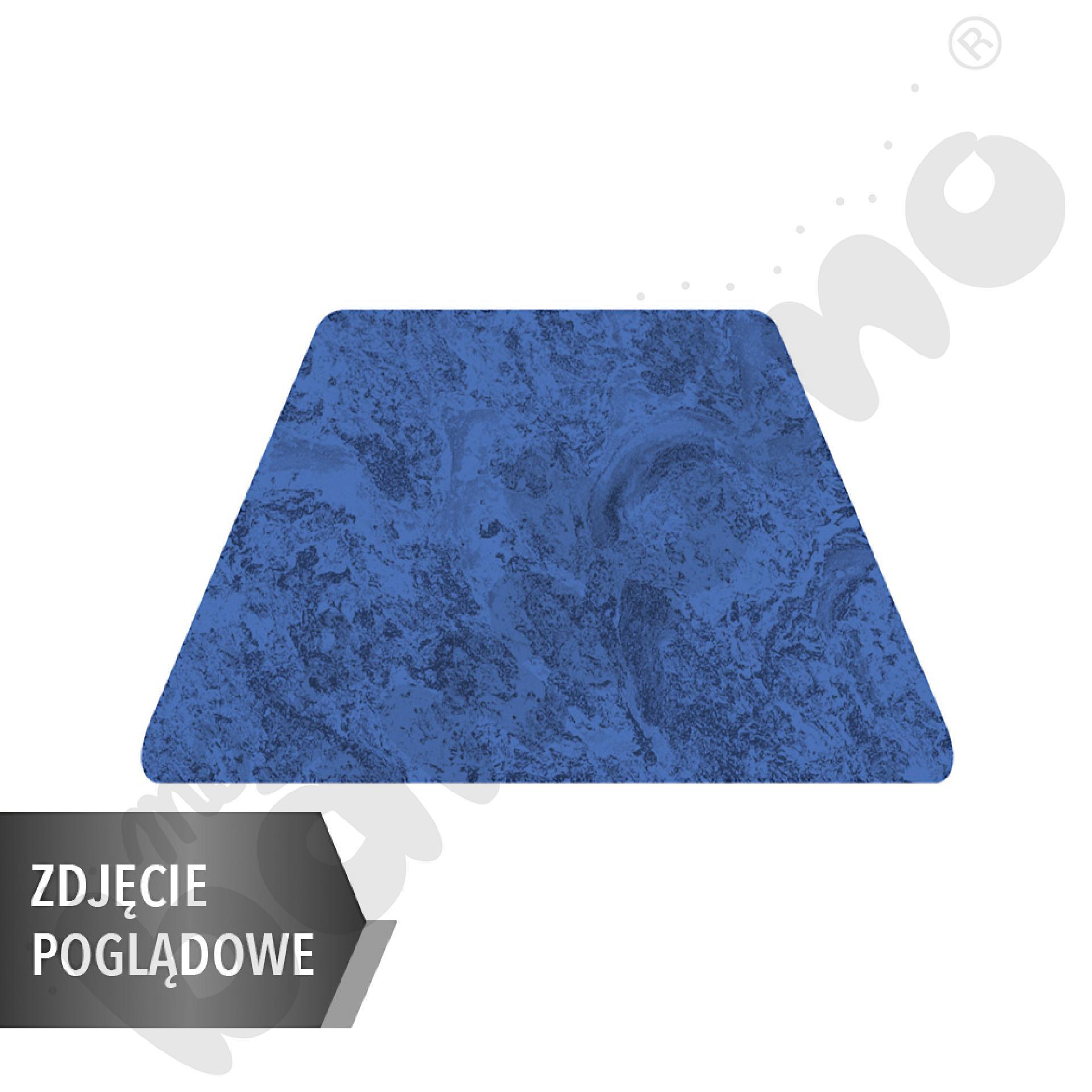Cichy stół Plus trapezowy, 140 x 70 x 80 x 70 cm, zaokrąglone narożniki, rozm. 6 - niebieski