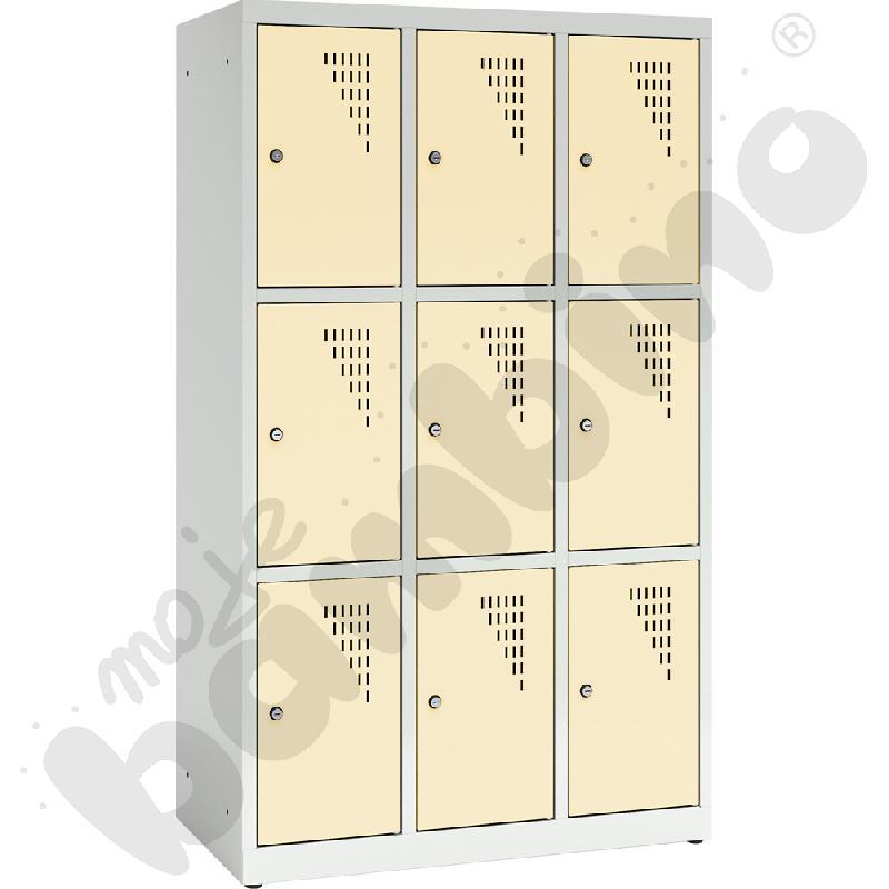 Szafa ubraniowa z 9 schowkami, 150 cm - drzwi beżowe