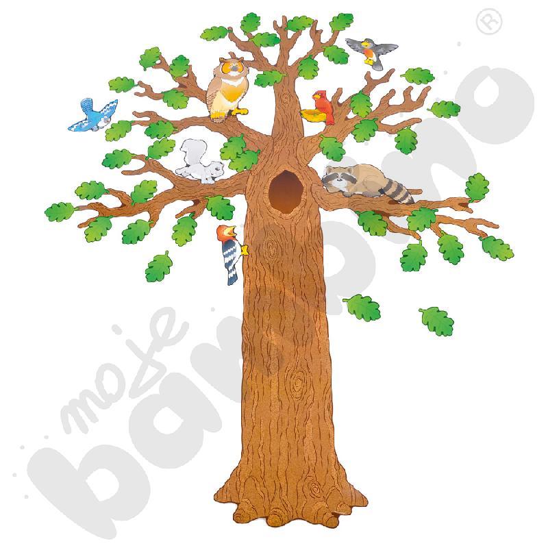 Duże drzewo z mieszkańcami - plansza