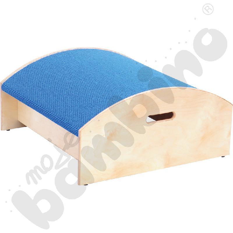 Podest kwadrat wypukły - wys. 20 cm niebieski