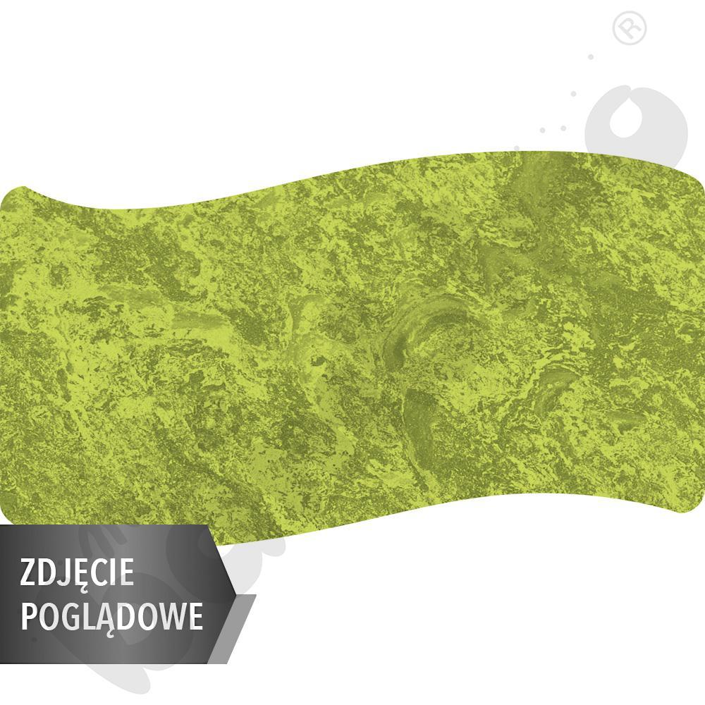 Cichy stół Plus falisty duży, 140 x 72 cm, zaokrąglone narożniki, rozm. 4 - zielony