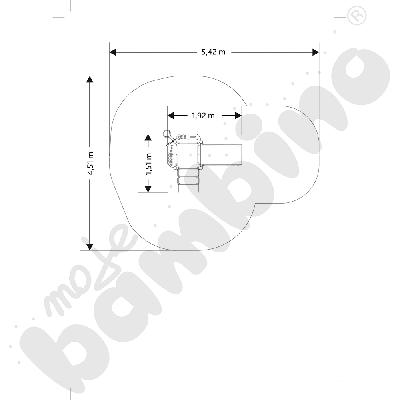 Wieża bocianie gniazdo insGraf- żółta