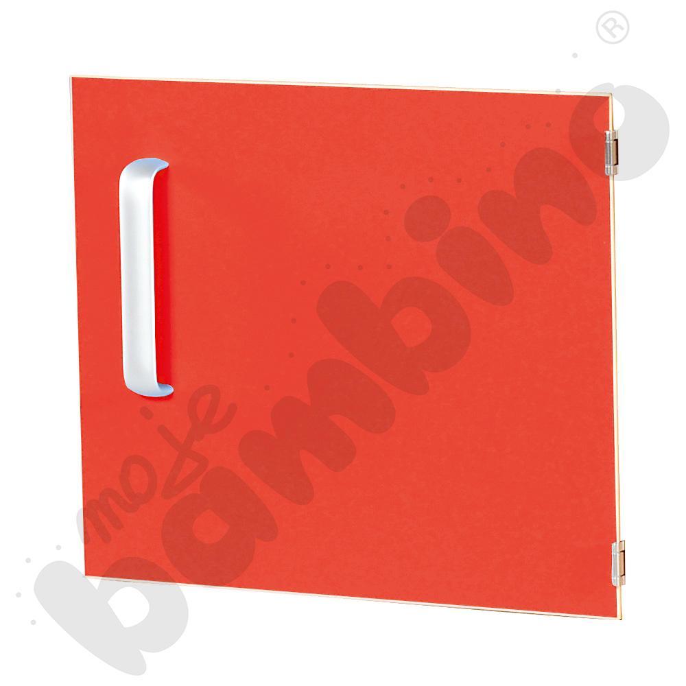 Drzwiczki do szafki M z przegrodą prawe - czerwone