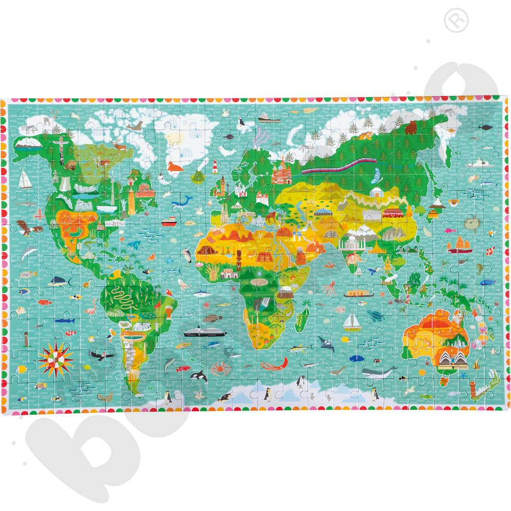 Puzzle Świat aaa