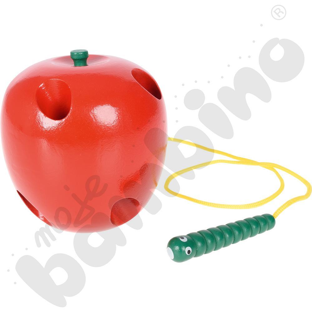 Przewlekanka - jabłko z robaczkiem