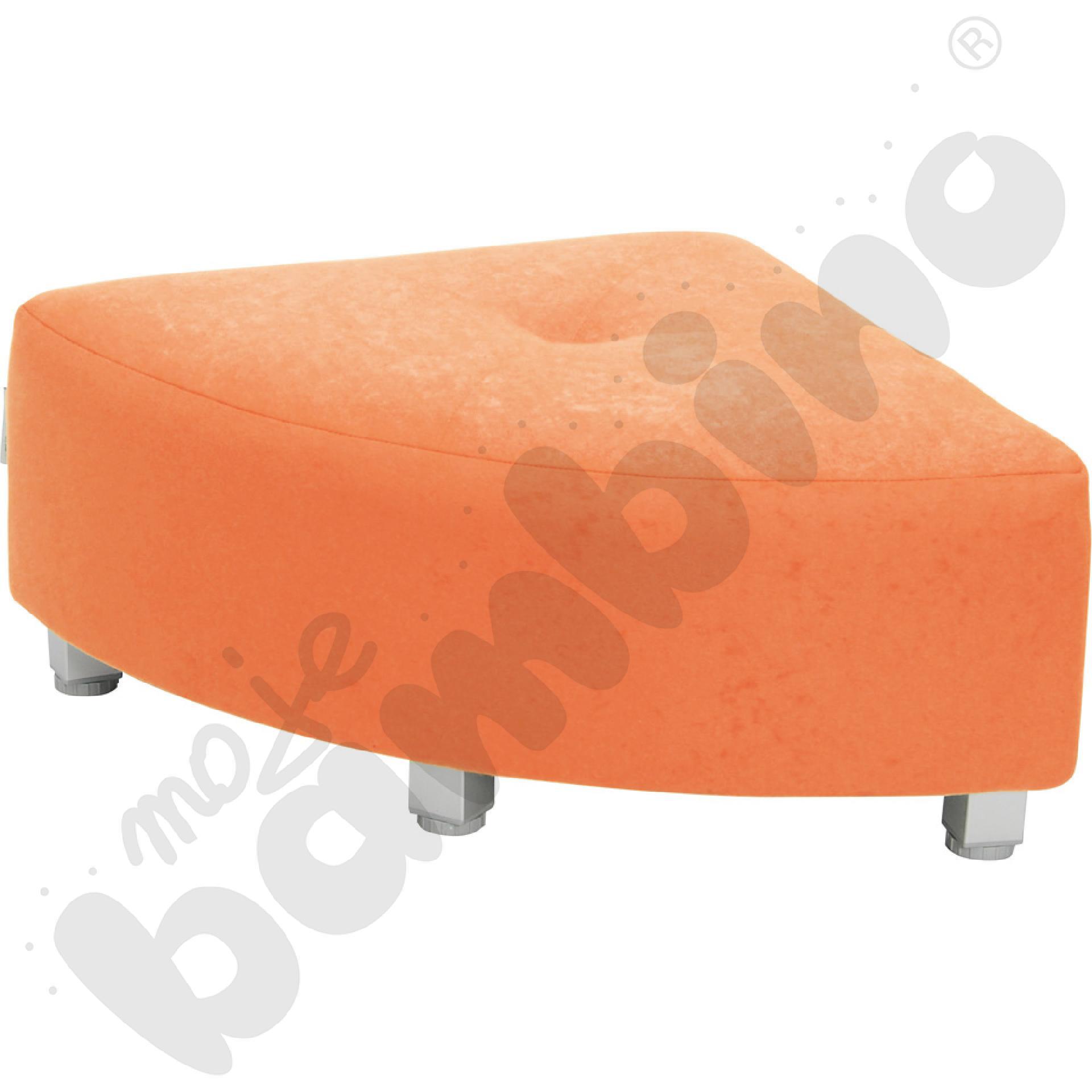 Pufa narożna - pomarańczowa...