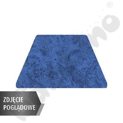 Cichy stół trapezowy, 140 x 70 x 80 x 70 cm, zaokrąglone narożniki, rozm. 6 - niebieski