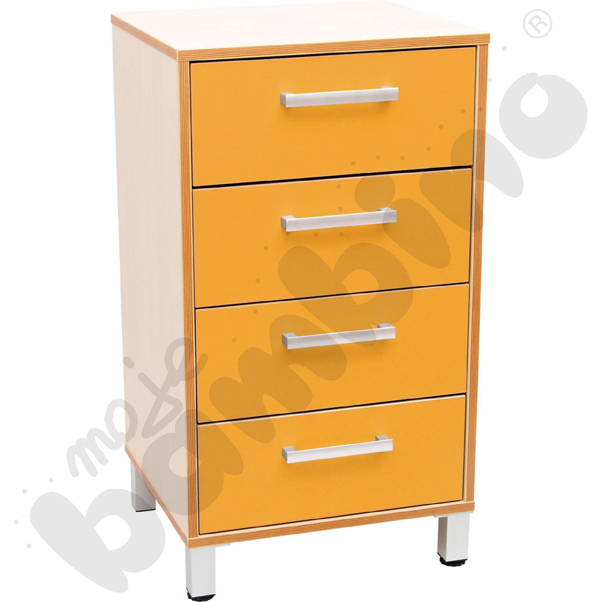 Szafka z szufladami Premium solo - pomarańczowa