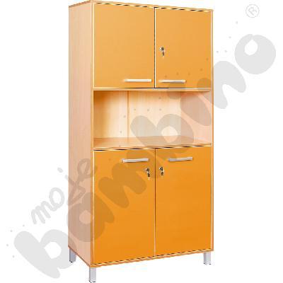 Szafa wysoka Premium z zamkiem - pomarańczowa