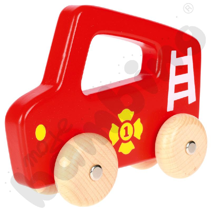 Auto drewniane - wóz strażacki