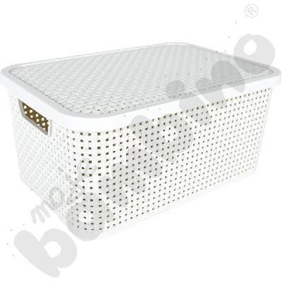 Koszyk z pokrywą 7 l - biały