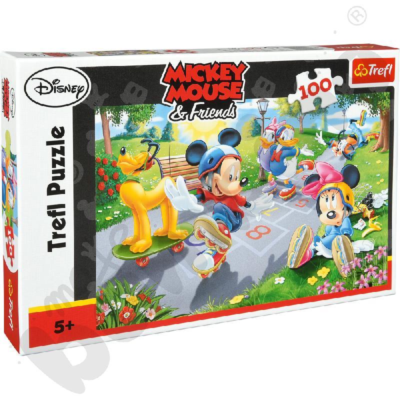 Puzzle Miki na rolkach 100 el.