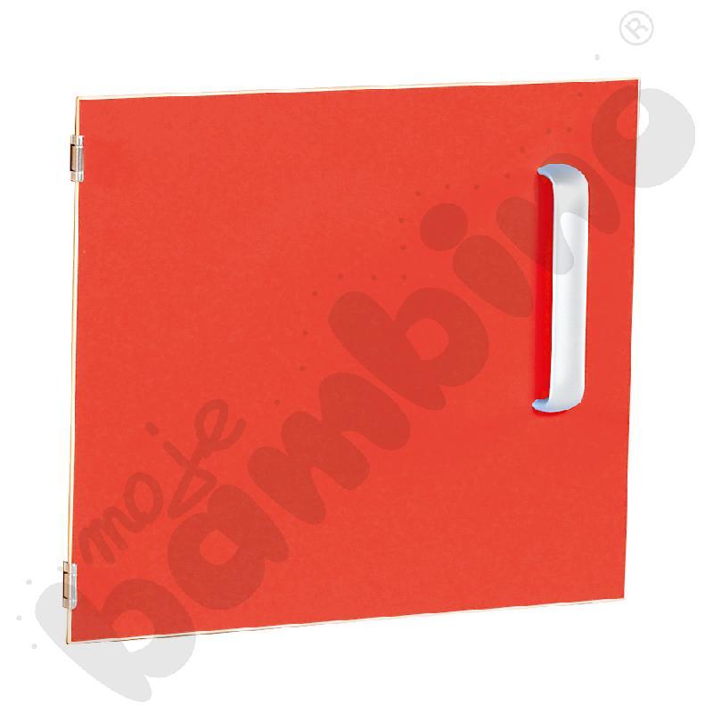 Drzwiczki do szafki M z przegrodą lewe - czerwone