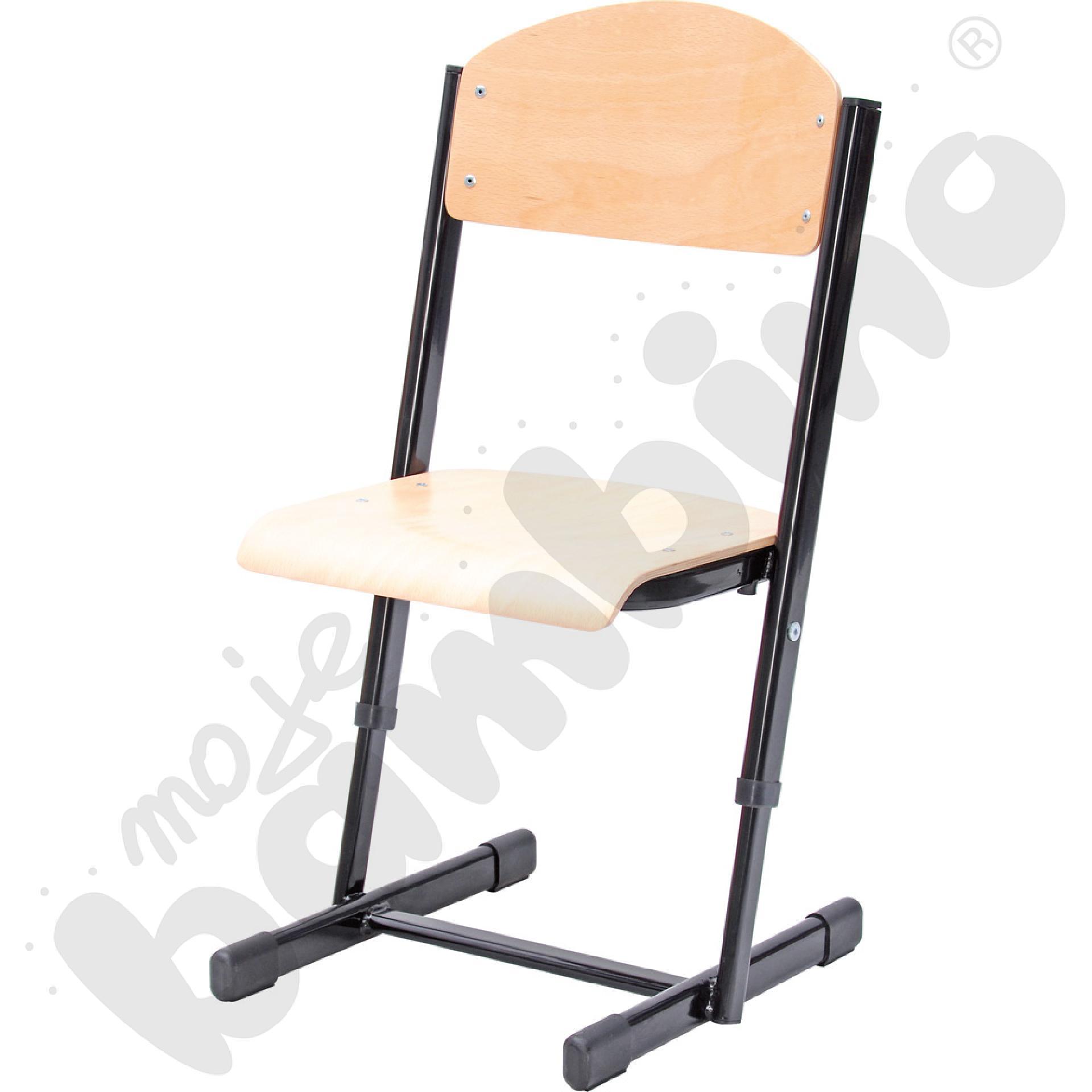 Krzesło T z regulowaną wys. rozm. 2-3 czarne