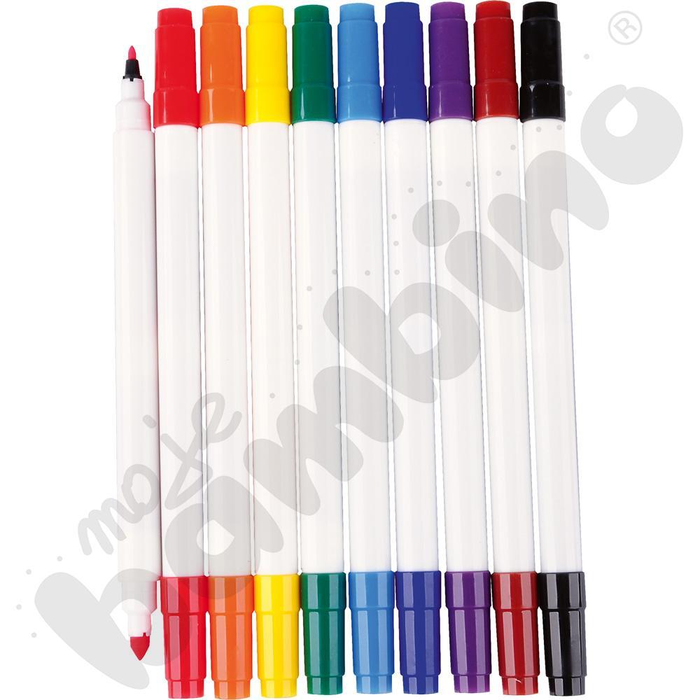 Mazaki dwustronne 10 kolorów