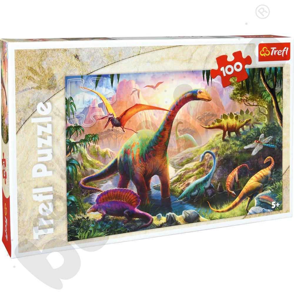 Puzzle Świat dinozaurów 100 el.