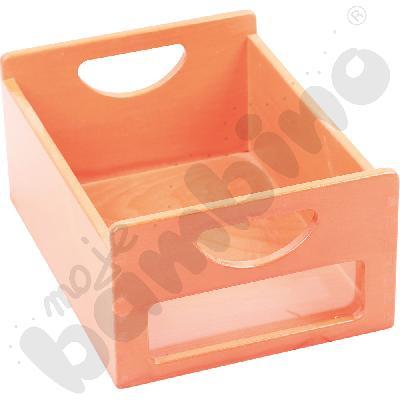 Pojemnik pomarańczowy z okienkiem