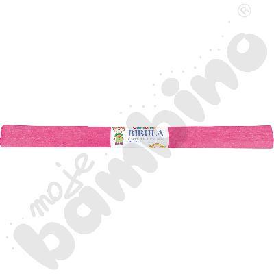 Bibuła karbowana metalizowana różowa