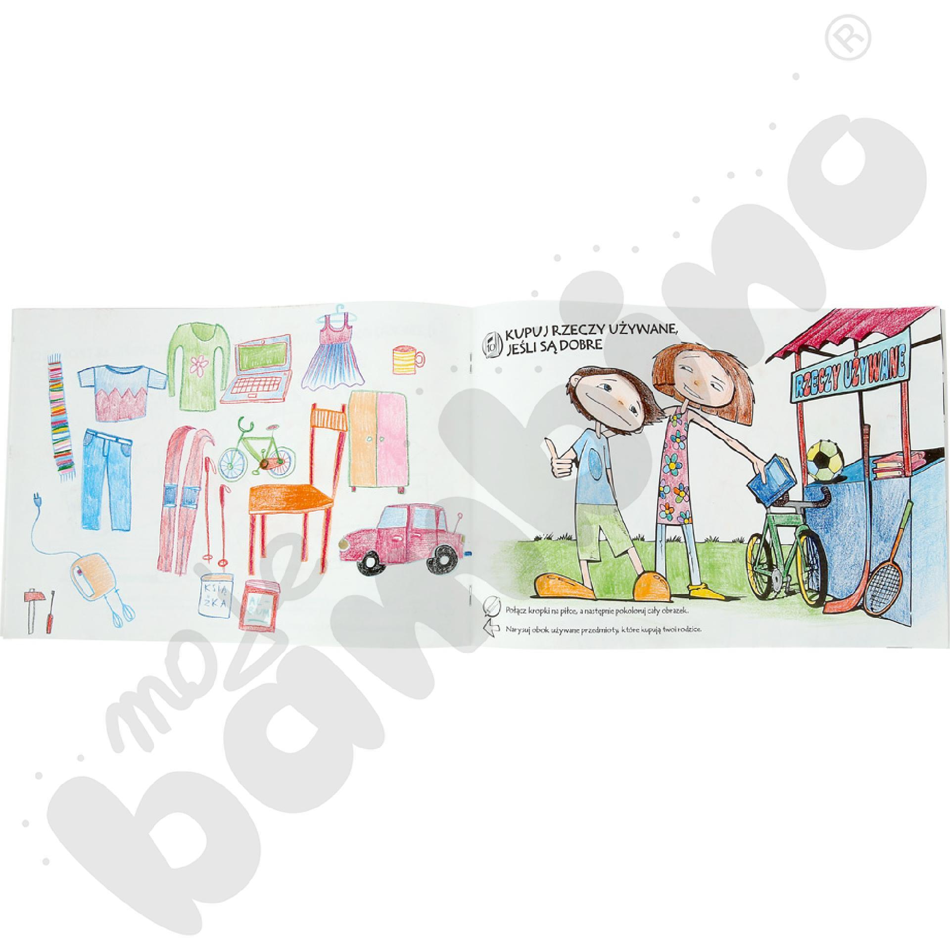 Co robić z odpadami? - edukacyjna książeczka do kolorowania