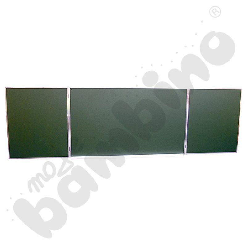 Tablica zielona tryptyk 340x100 cm (na skrzydłach po zamknięciu linia)