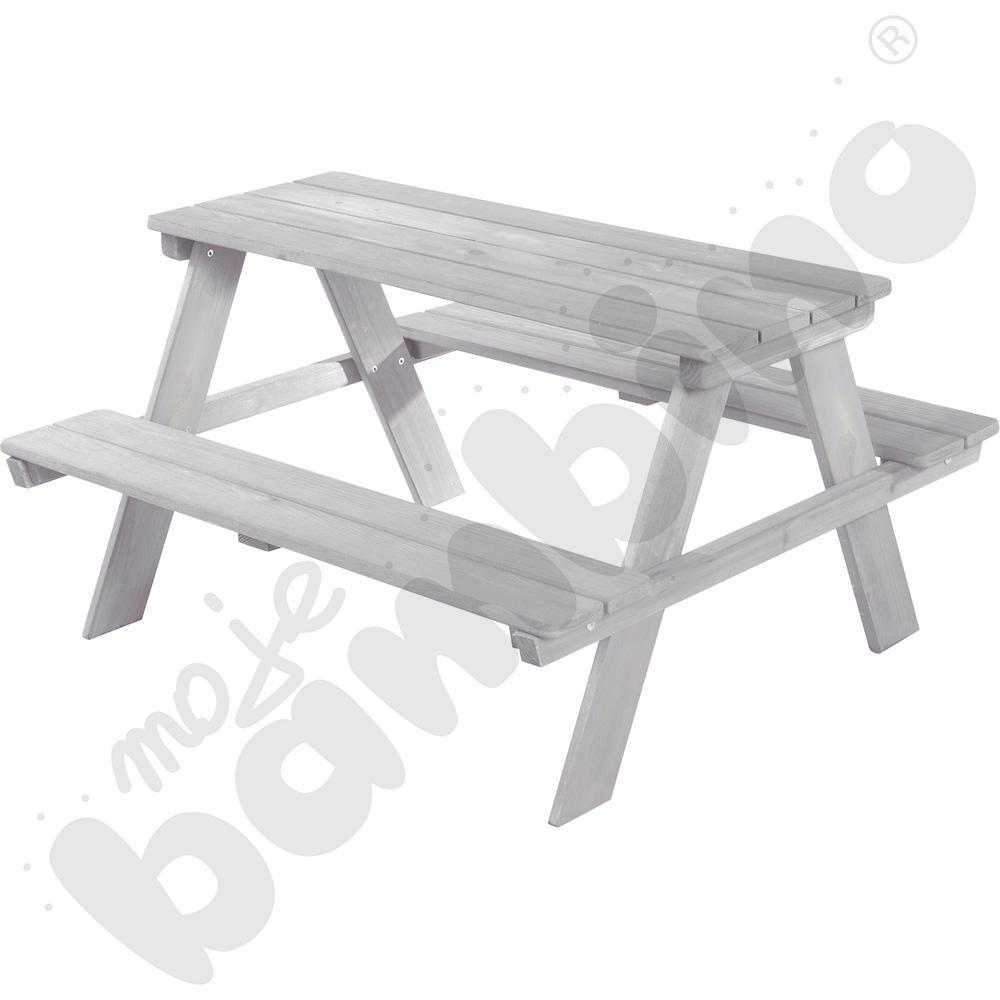 Stół piknikowy 4-osobowy szary