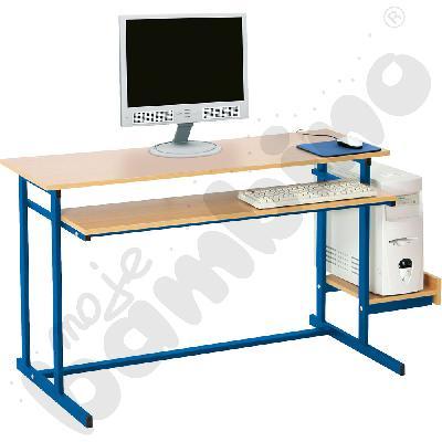 Stolik komputerowy NEO 2  2-os. ze stałą półką na klawiaturę  rozm. 6 - niebieski