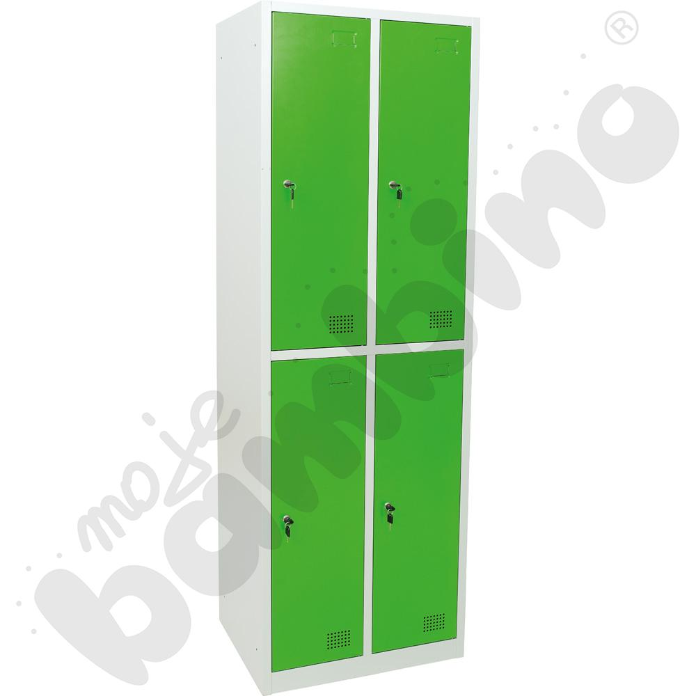 Szafka ubraniowa z 4 schowkami drzwi jasnozielone