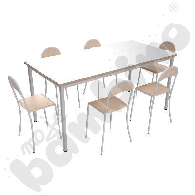Stół Mila 160 x 80 biały z...