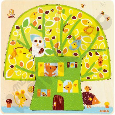 Puzzle 3 w 1 domek na drzewie