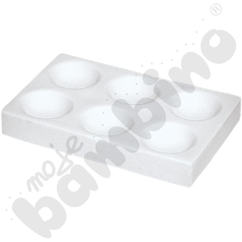 Płytka porcelanowa - 6 wgłębień