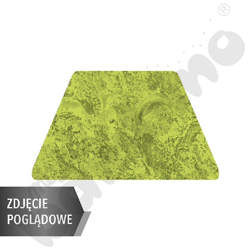 Cichy stół Plus trapezowy, 140 x 70 x 80 x 70 cm, zaokrąglone narożniki, rozm. 6 - zielony