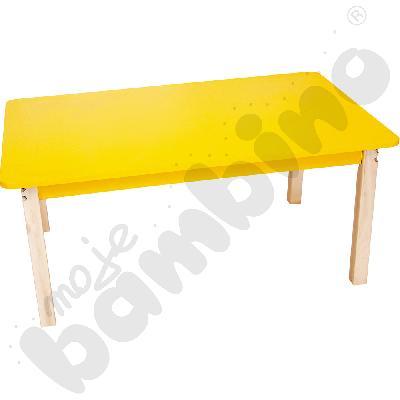 Blat prostokątny żółty